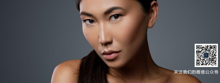 Asian lady on a grey background