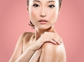 Chinese Lady with clear skin