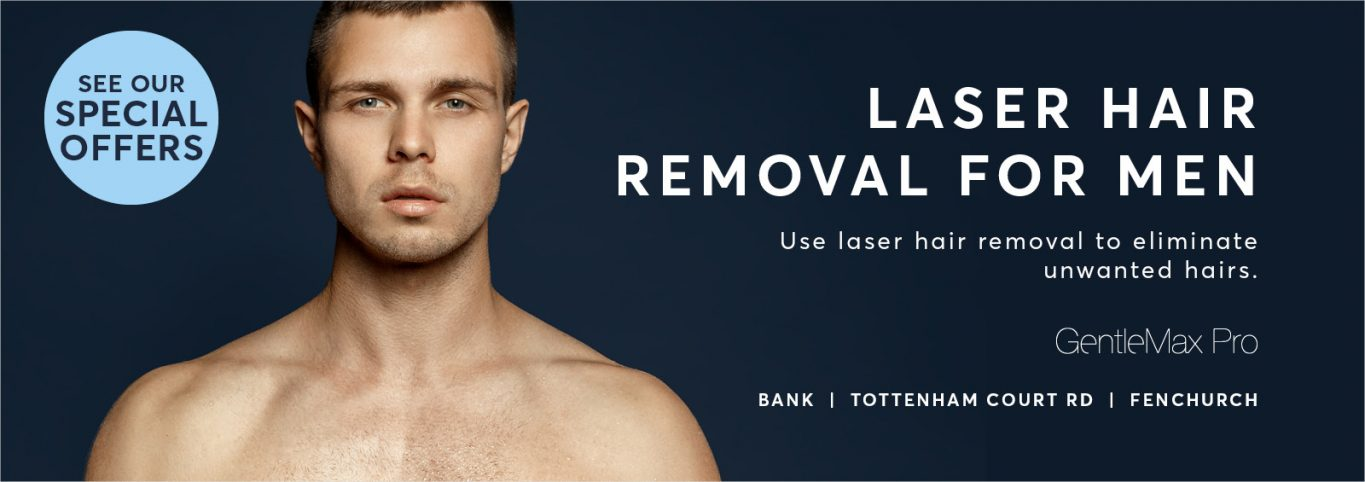 Permanent Hair Removal with special discount for mens hair